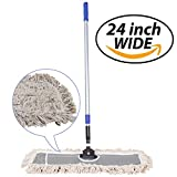 JINCLEAN 24' Industrial Class Cotton Floor Mop | Dry to Attract...