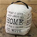 VINTAGE citazione Fermaporta ~ 20cm Bianco Fermaporta da Carousel Home