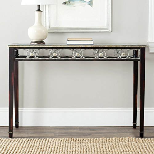 Iron Base Console - Safavieh American Homes Collection Lisa Antique Black Console Table