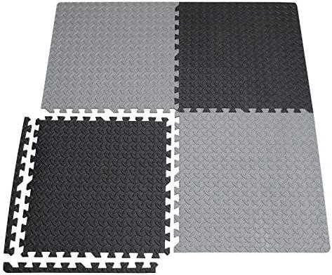 XMTMMD Gym Mat Gym Flooring Mat Puzzle Exercise Mats Interlocking Foam Mats with EVA Foam Floor Tiles for Gym Equipment Workouts