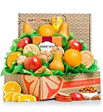 GiftTree Fresh Fruit & Cookies Gift Basket | Box Includes Apples, Oranges, Pears, Oatmeal Cookies, Wisconsin Cheddar Cheese & more | Perfect Thank You, Birthday, and Holiday Present