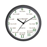 CafePress – Clock Face Saa Ngapi? – Unique Decorative 10″ Wall Clock For Sale