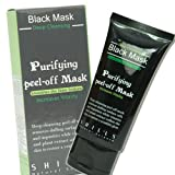 SHILLS Blackhead Remover, Charcoal Mask, Peel Off Black, Acne Treatment, Facial Pore Mask