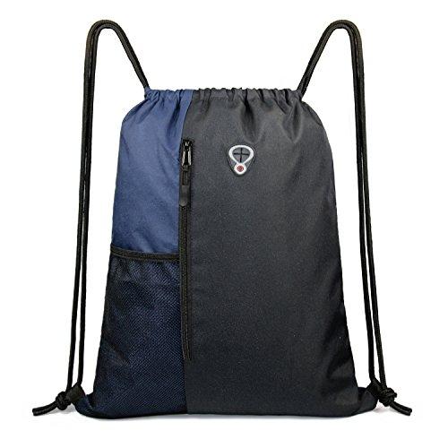Drawstring Sports Backpack Bag for Men& Women, Gym Yoga Sackpack Shoulder Rucksack for School and Travel