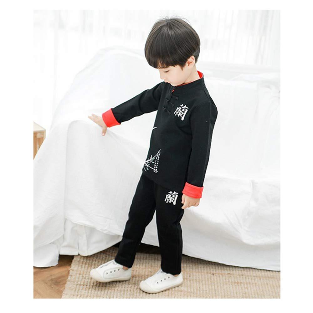 V/êtements Traditionnels Chinois de Style Chemise /à Manches Longues et Pantalons 2 Pi/èces KINDOYO B/éb/é Gar/çon Costume Tang Printemps