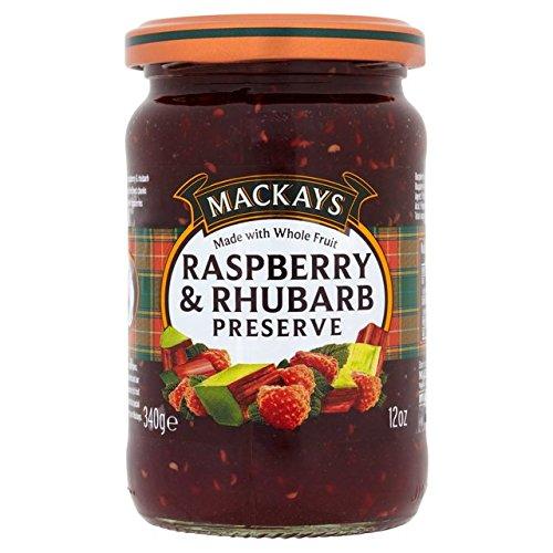 Mackays Raspberry And Rhubarb Preserve - Jam Rhubarb Raspberry