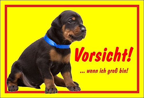 Cartel Cartel advertencia dóberman - Vorsicht de Si yo ...