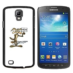 TECHCASE---Cubierta de la caja de protección para la piel dura ** Samsung Galaxy S4 Active i9295 ** --HISTORIETA COYOTE
