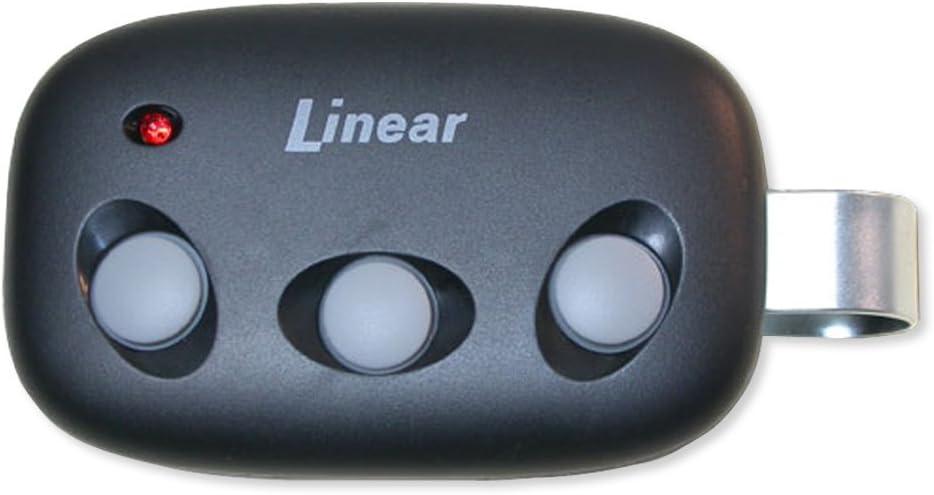 Linear Megacode Mct-3 3-Channel Visor Transmitter, Black