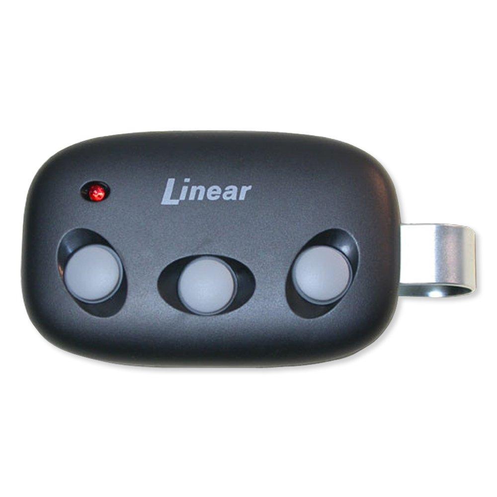 Linear Megacode MCT-3 3-Channel Visor Transmitter, BLACK,