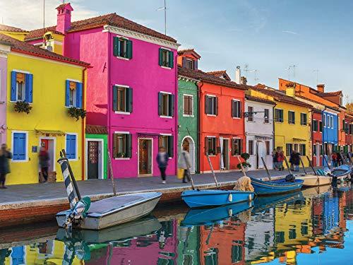 300 Piece Puzzle for Adults - Large Piece - Colorful Venice Jigsaw Puzzle