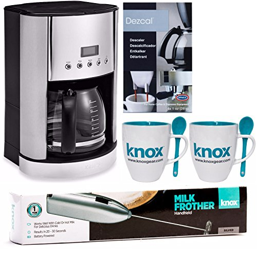 Krups-ET351-Savoy-12-Cup-Thermal-Coffee-Maker-Free-Knox-Mugs-Milk-Frother-and-Descaling-Powder