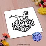 VROSELV Custom Cotton Microfiber Ultra Soft Hand Towel-raptor sport logo mascot design vintage college team coat of arms military dino vector logotyp Custom pattern of household products(20''x20'')