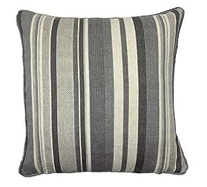 O cama de matrimonio gris a rayas diseño de rayas 100% algodón de grosor funda para cojín 43,18 cm - 43 cm