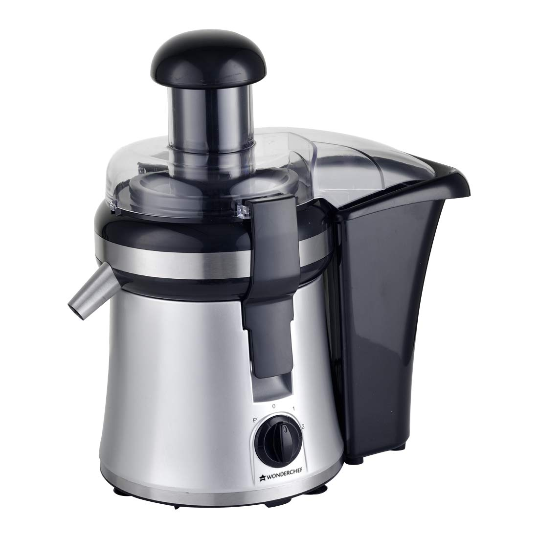 Wonderchef Prato 250 Watt Compact Juicer (BlackSilver)