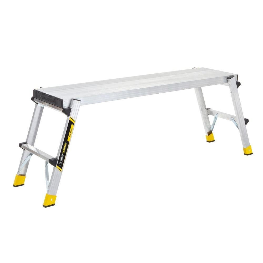 47.25'' x 12'' x 20'' Aluminum Slim-Fold Work Platform with 250 lb. Load Capacity by Gorilla Ladders (Image #5)