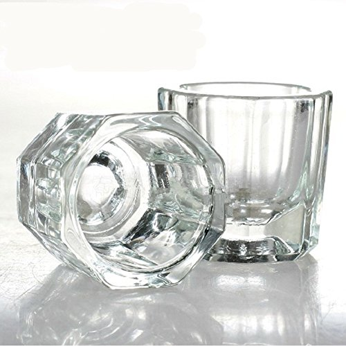 Fashion gallery 2PCS/lot Glass Crystal Bowl Cup Dappen Dish Arcylic Solution Cup Nail Art Product Tool - Glasses Gallery