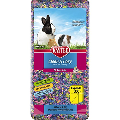 Kaytee Clean & Cozy Birthday Cake Bedding, 500 Cubic Inch