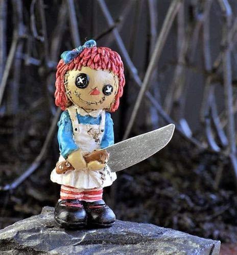 An Figurines Miniature Fairy Garden Psycho Rag Doll Stake Halloween]()