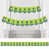 Boy Puppy Dog - Birthday Party Bunting Banner - Blue Party Decorations - Happy Birthday