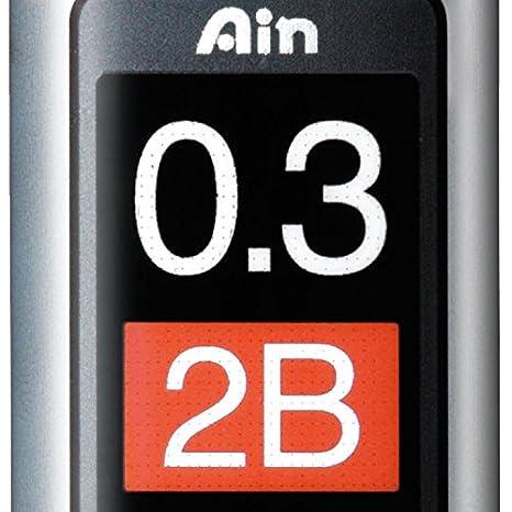 con Mine per portamine Pentel Ain Stein 2B 0,3 mm confezione da 12