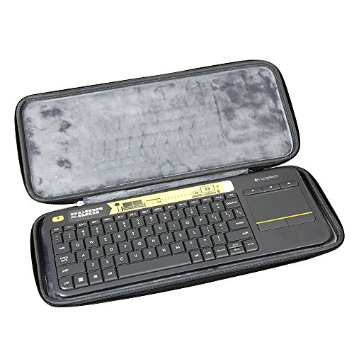Hermitshell Hard Travel Case Fits Logitech K400 920-007119 Plus Wireless Touch Keyboard