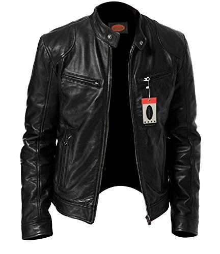 969250f17 Laverapelle Men s Black Genuine Lambskin Leather Jacket - 1501533 at ...