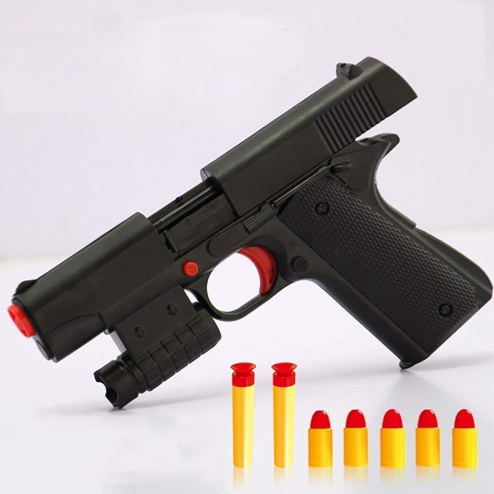 OYJD Pistola de Juguete, Juguetes para niños Pistola de Juguete con Bala de Goma
