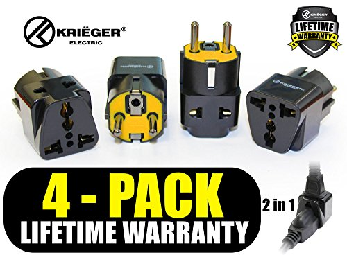 KRI%C3%8BGER Grounded Universal Adapter Germany product image