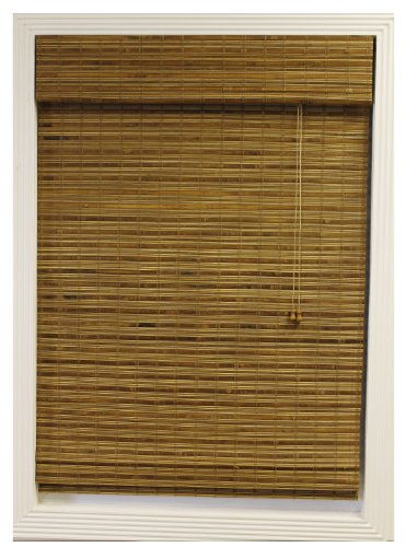 Calyx Interiors Bamboo Roman Shade, 26-Inch Width by 54-Inch Height, Dali Natural
