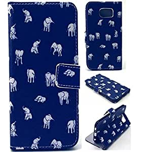 Leather Samsung Galaxy S6 Edge Case,S6 Edge Case,S6 Edge Wallet Case,Galaxy S6 Edge Case Wallet,Samsung S6 Edge Wallet Cases,Addigital Printed Flip Wallet Leather Case Cover For Samsung Galaxy S6 Edge 009