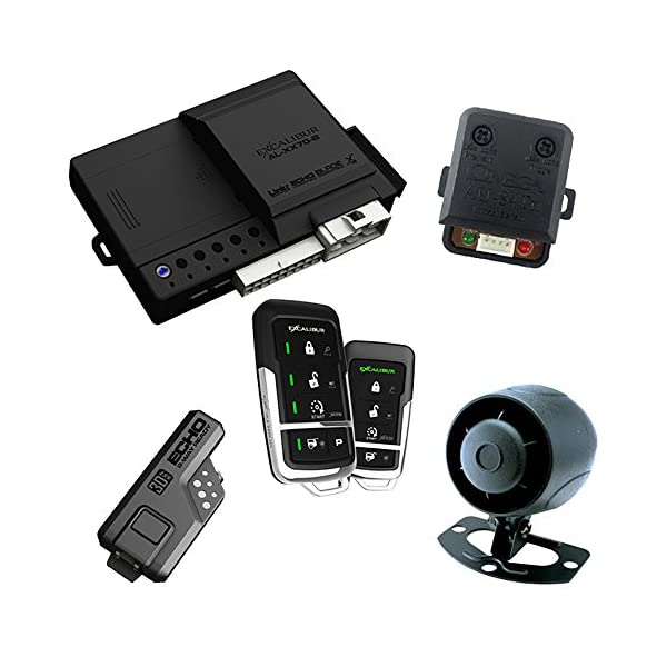 Excalibur AL17753DB 2 Way Paging Remote Start/Keyless Entry/Vehicle Security System (with 2 Button LED Remote And…