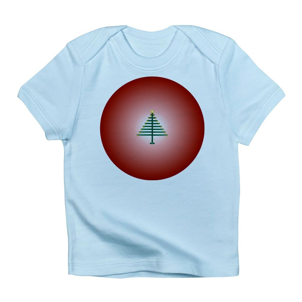 12-18 Sky Blue Truly Teague Infant T-Shirt Christmas Tree On Red Bulb