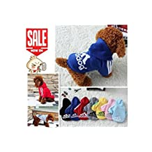 Pet Dog Clothes Autumn Winter Hoodie Coat Jumpsuit Sweater Adidog Clothing for Large Dogs Medium Small XS S M L XL XXL (color: Red,size: XS)