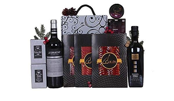 Detalle para felicitar la Navidad con vino D.O. RIOJA Crianza AZABACHE y conservas gourmet: Amazon.es: Alimentación y bebidas