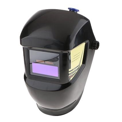 Homyl Auto Darking Casco Protector de Soldadura Eléctrica Diseñado para Proteger Ojos y Caras de Chispas