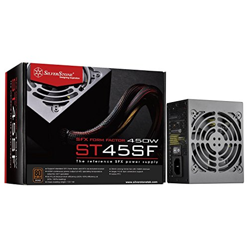 SilverStone Technology 450W SFX Form Factor 80 PLUS BRONZE Power Supply (ST45SF-V3)
