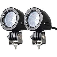 2PACK 12W LED Spot POD RACE LIGHTS Off Road Motorcycle Dirt Bike Fog Driving Work Lights 1200LM IP68 WATERPROOF, 24 Months Warranty