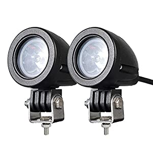 1. 2PACK 12W LED Spot POD RACE LIGHTS Off-Road Motorcycle Dirt Bike Fog Driving Work Lights