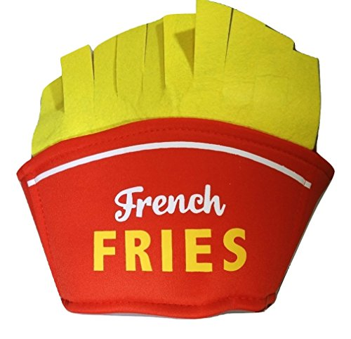 Nicky Bigs Novelties French Fries Hat, Red and Yellow, One -