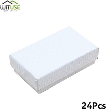 24 piezas cuadrado caja de regalo blanco para pulsera, collar, joyería, caja de regalo: Amazon.es: Bricolaje y herramientas