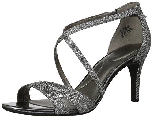 - Bandolino Women's Jeune Heeled Sandal, Gunmetal, 6 M US