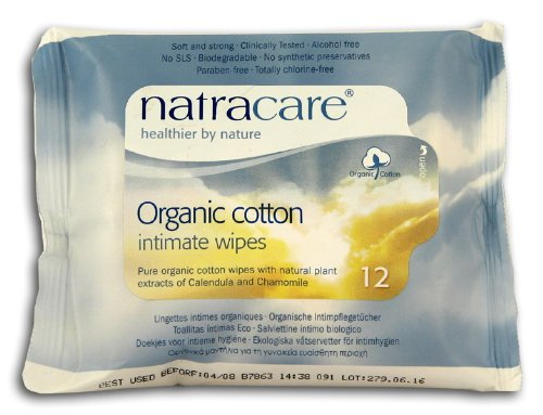 Organic Cotton Intime Lingettes Natracare 12/1 Packet