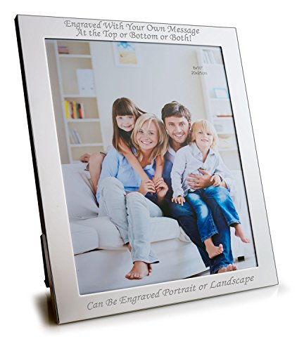 Engrave it Online Personalised 10 X 8 Silver Plated Photo Frame - Can Be Engraved with Your Message ()