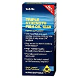 GNC Triple Strength Fish Oil 1240, 90mini softgels, Health Care Stuffs