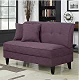 Contemporary Sofa Loveseat - This Upholstered Couch Is Made of Wood and Linen Material - Perfect Seat for Your Bedroom, Living Room - Free Toss Pillows - 1 Year Warranty! (Amethyst Linen)