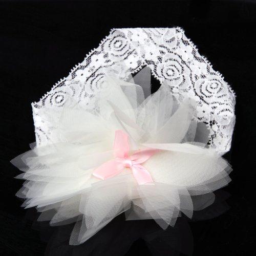 1 Piece Baby Girls Ruffle Flower Elastic Lace Hair Decor Hairband Headband