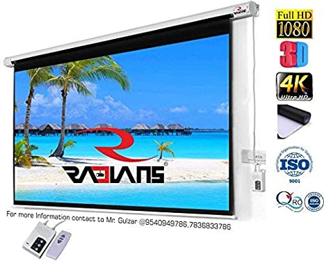 RADIANS Motorized Projector Screen Size -9Ft X 5Ft, 120: Amazon in