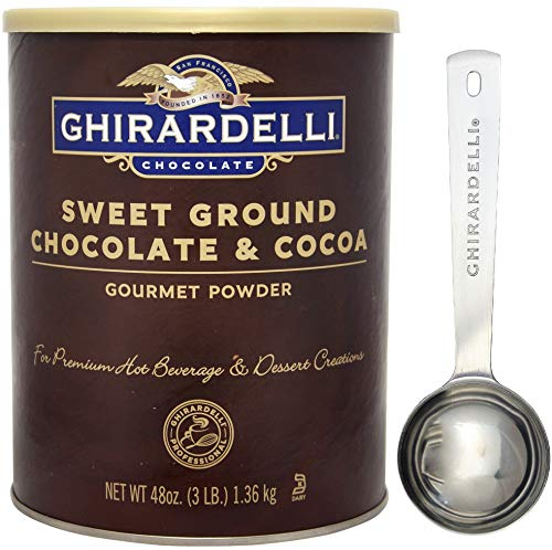 (Ghirardelli - Sweet Ground Chocolate & Cocoa Gourmet Powder 3 lbs - with Exclusive Measuring Spoon)