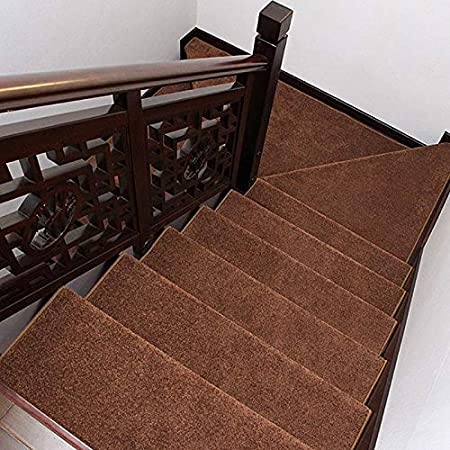 Antideslizantes para escaleras Almohadilla De Escalera Redonda Tapete Antideslizante Autoadhesivo para Escalera Espesar Alfombra Paso Decoración Interior TZXSHO: Amazon.es: Hogar
